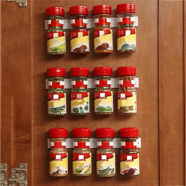 2/4 adet Home Kitchen Duvar Asma Sos Malzemeler Şişe Depolama Tutucu Organizatör Aracı Mutfak Depolama Alanı Tasarrufu bluesky1990 Rack
