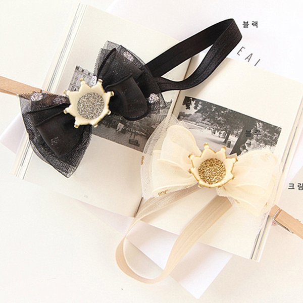 Baby Lace Crown Bow Hairband 0 to 2 Years Hair Accessories Beautiful Girl Headband Christmas Hair Clips Infant Birthday Gift
