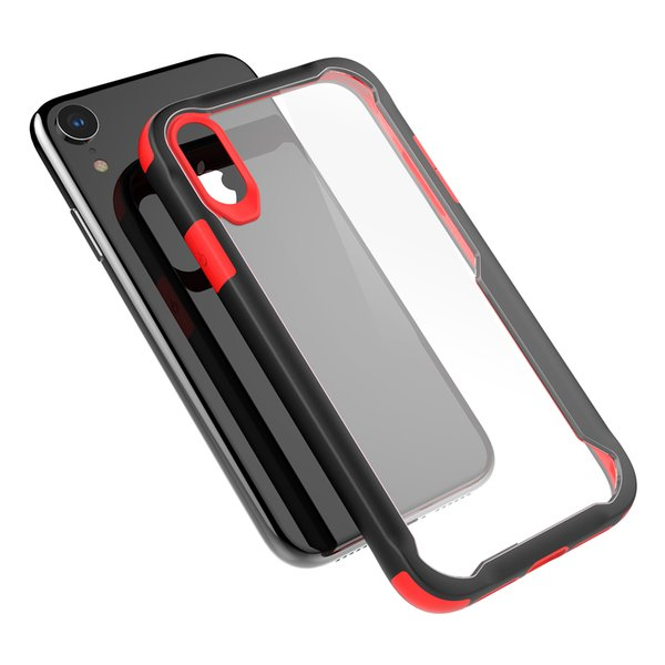 Slim Contrast Color Phone Case for iPhone XR XSMax Shockproof TPU PC Shell xr xsmax clear back cover