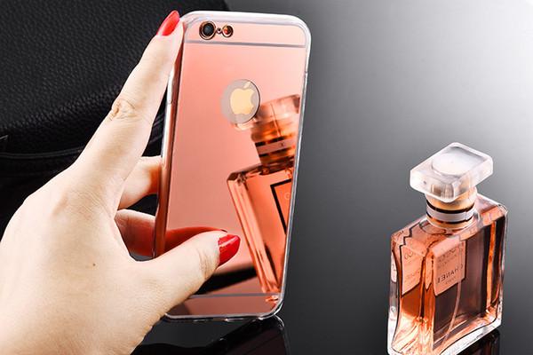 Ayna kılıf Galvanik Krom Ultrathin Yumuşak TPU Telefon Kılıfı Kapak Için Samsung Galaxy S10 S9 Not 8 iphone xs max iphone xr epacket ücretsiz