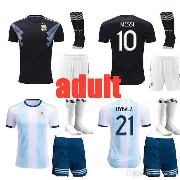 хорошо 2019 2020 аргентина для взрослых футболка полицейский америка аргентина футболка MESSI Camiseta de futbol DYBALA DI MARIA BIGLIA AGUERO