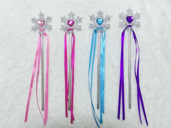 Fairy Wand Ribbons Streamers Christmas Wedding Party Snowflake Gem Sticks Magic Wands Confetti Party Props Decoration Supplies SN2607