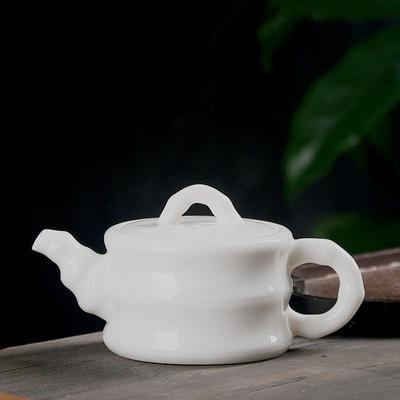 best selling DeHua old chinese stly teapot with simple ceramic jade white porcelain single tea pot 100-200ml xishi teapot