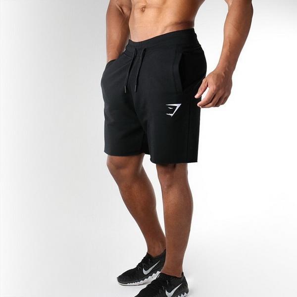 2019 ginásio dos homens de exercício solto respirável shorts de secagem rápida esportes calções padrões de cabeça de tubarão