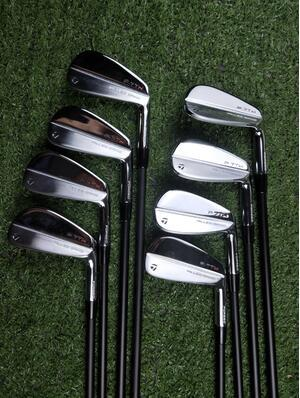Brand New P7 TW Iron Set P7 TW Гольф кованых Утюги P7TW Гольф-клубы 3-9Pw R / S Flex сталь / графит Вал С Крышка головки