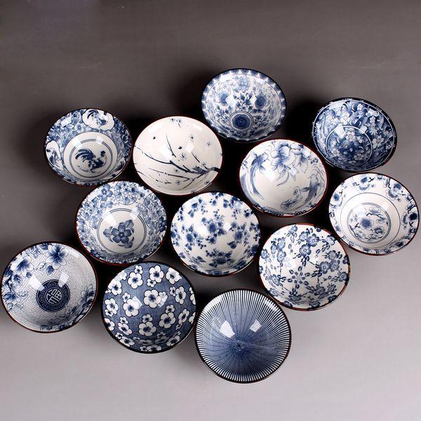 Tasse à thé en porcelaine bleue et blanche 1pcs, tasse de thé Kung Fu, tasses à thé en céramique de style chinois, accessoires de service à thé