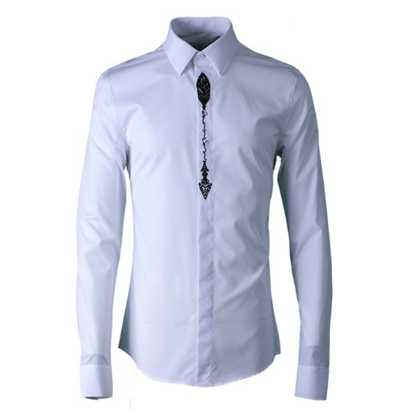 Brand Pure Cotton Shirt Men 2019 Fashion Simple Design Long Sleeve Turn-down Collar Slim Casual Shirts Solid Business Clothes