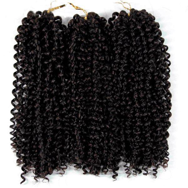 12'' brazilian jerry curl bundles weave Synthetic Braiding hair with Ombre purple blonde Crochet Braids Hair Extension bulk hair