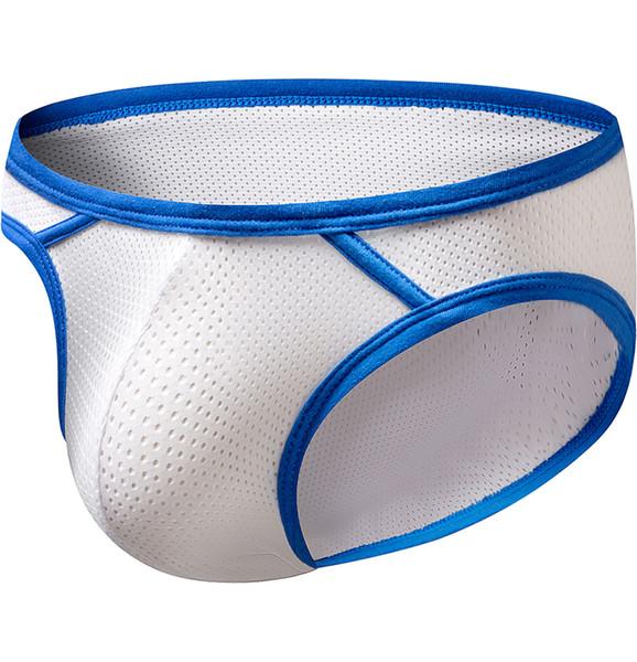 ORLVS 2019 men underwear briefs sexy gay mens brief men hollow mesh pouch underwear cueca male man bikini OR124