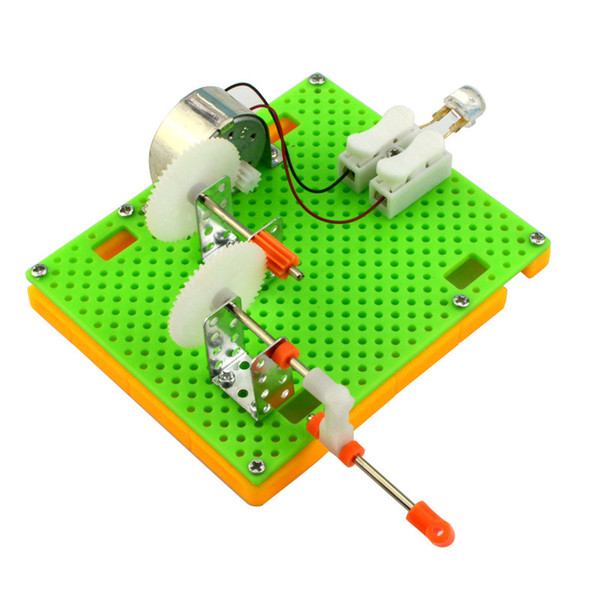 best selling technology invention DIY generator toy Creative Science Hand Crank Generator Kids Puzzle Assembled Kits Simple Physics Experimen
