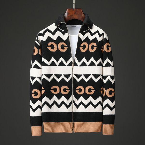 2019 Nuevas prendas de punto para mujeres de otoño e invierno con estampado de cabeza cubierta - Camisa de punto de cuello Suéter de rebeca Outwear de mujer Tops Suéter de diseñador 954