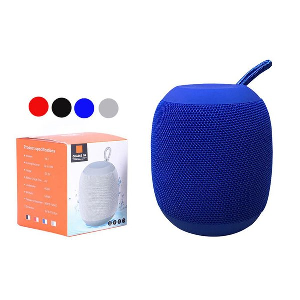 top popular Portable G4 Wireless Bluetooth Speaker Outdoor Speakers Rechargeable Battery Support Micro-SD TF Card with Mic 3.5mm Port for moblie phone 2019