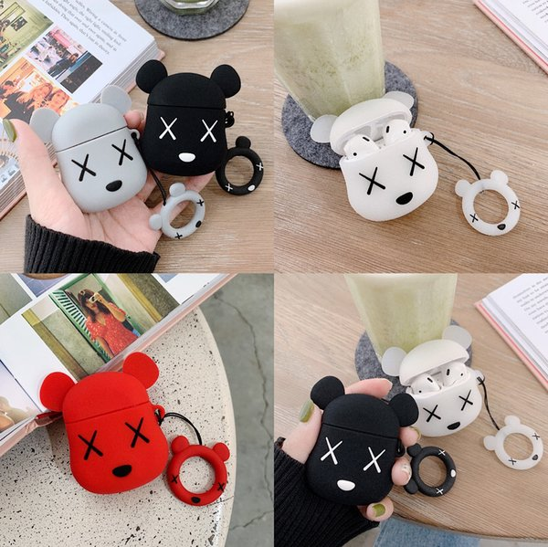 Tide brand cartoon joint iPhone AirPods protective cover soft silicone Bluetooth wireless headset anti-fall lanyard