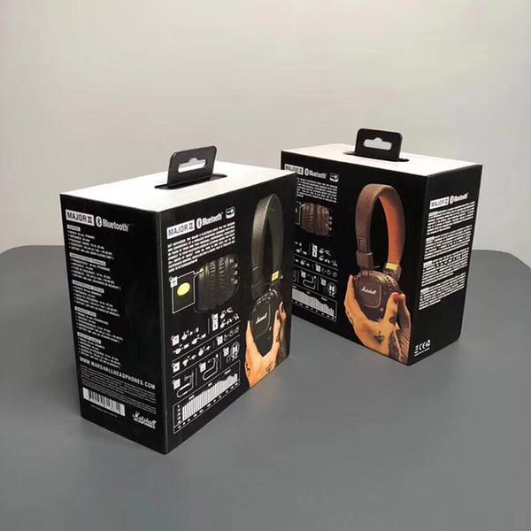 Marshall Major II 2.0 Bluetooth Wireless Headphones with Mic DJ Headphone Bass Noise Cancelling Gaming Headset Earphone for iPhone Samsung