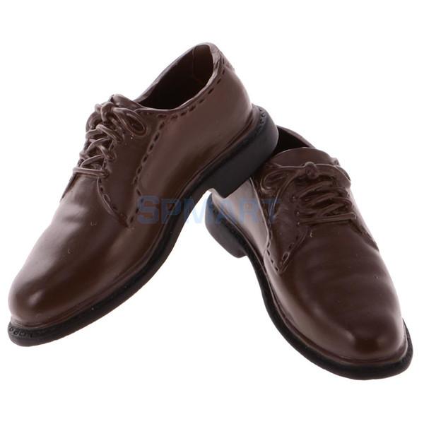 Chaussures en cuir à l'échelle 1/6 à l'échelle 1/6 en caoutchouc fabriqués pour les hommes pour les poupées 12 pouces Hot Toys Sideshow DID BBI Figure militaire militaire