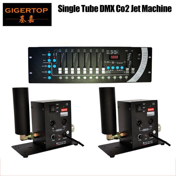best selling High Quality 2pcs lot Single Pipe CO2 Machine DMX 512+1Pcs DMX 192 Mini Stone Controller Single Tube CO2 Machine Jet Stage Effect Machine