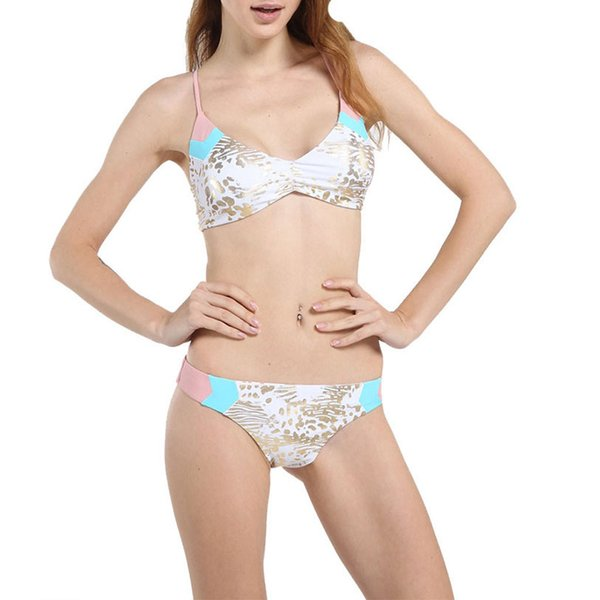 Garantía de calidad 100% compra genuina clásico Compre 2019 Bikini De Moda Conjuntos De Color Dorado Traje De Baño Traje De  Baño Femenino Bikinis Sexy Trajes De Baño Biquini Beach Wear A $43.63 Del  ...