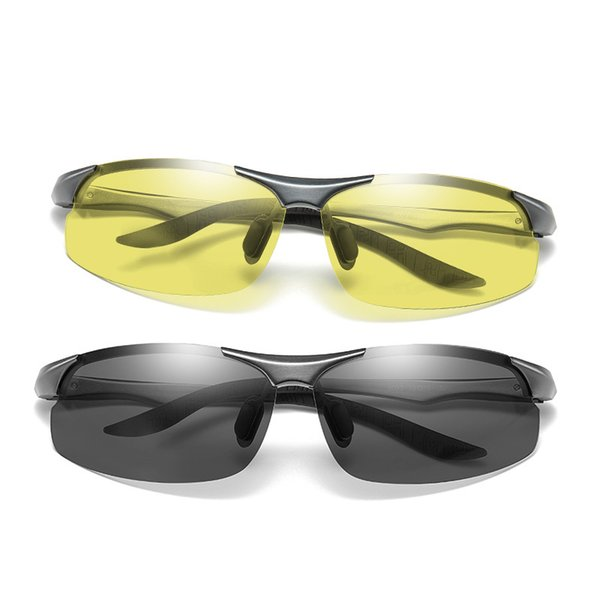 High Quality Photochromic Sunglasses Polarized Lens UV400 Aluminium Magnesium Frame Driving Goggles For Men Fashion Shades 8003