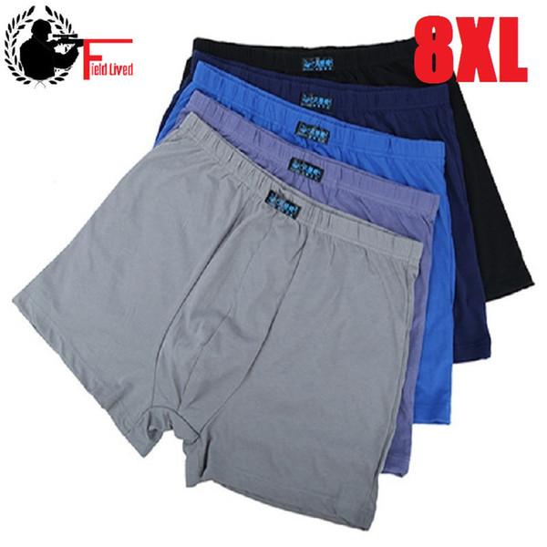 Men Underpant Boxer Lot Big Size Xxxxl Loose Pantie Under Wear Large Short Cotton Plus Size 5xl 6xl 7xl 8xl Underwear Boxer Male Q190402