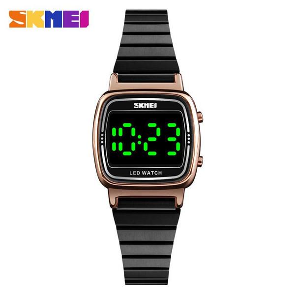 Beauté instantanée SKMEI est le plus populaire de style des femmes chic et simple lumière nuit verte des ins conduit montre électronique