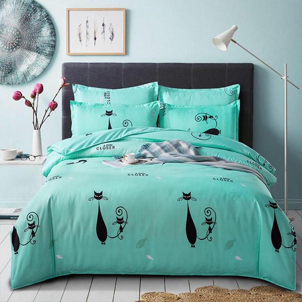 Yatak örtüleri çiçekler karikatür Sıcak Satış yatak set lüks moda Nevresim Seti Tek Kişilik King Size