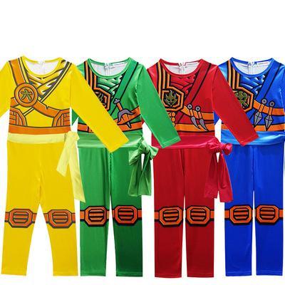 LEGO NINJAGO Cosplay Costumes LEGO Boys Jumpsuits Sets For kids Halloween Christmas Clothes Ninja Superhero Streetwear Suit COS