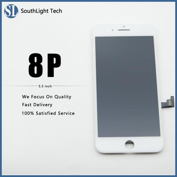 Really Good Price For Iphone 8 Plus LCD Display High Brightness Touch Screen All Fingerprint Tested Well With Cold Glue Frame Full Assembled