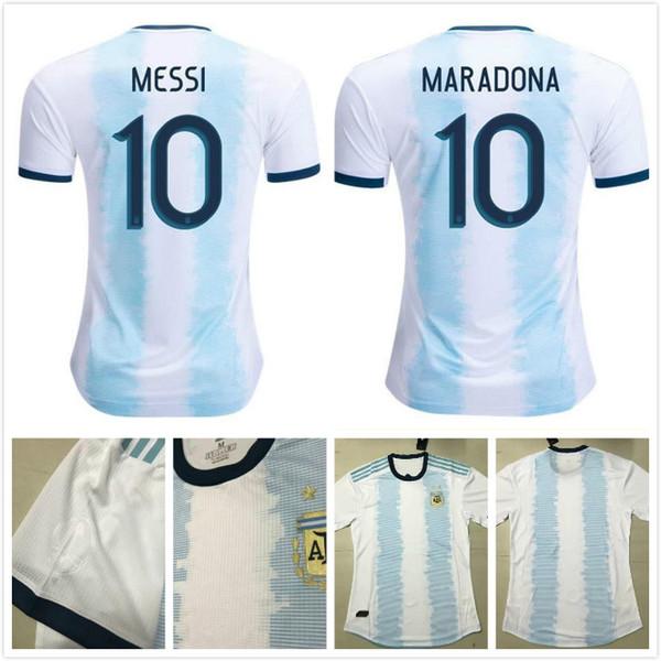 Player version Argentina home soccer jersey 2019 2020 Gold cup MESSI AGUERO DYBALA HIGUAIN ICARDI DI MARIA football shirt camiseta