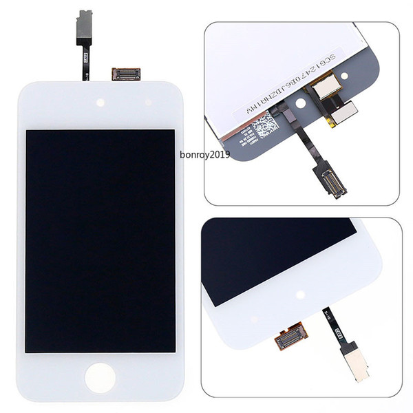 For iPod Touch 4th gen LCD assembly For iPod Touch 4 screen panel display Digitizer Assembly Repair Black White With tools