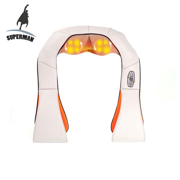 Electrical Shiatsu Massager Neck Massage Device Electric Back Shoulder Belt Massages Roller Machine For Body Health