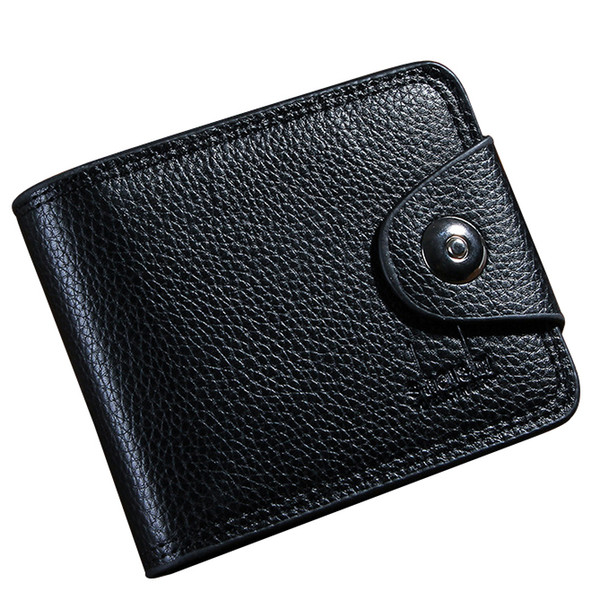 Men Wallets Brand Design Short Mans Purses Handbags Money Bags Clips Soft Pu Leather Male Hasp Clutch Wallet Burse Cards Holder