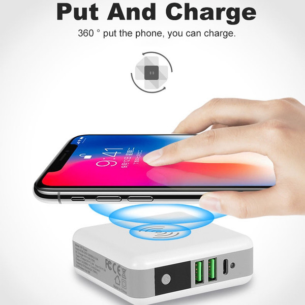 6700mAh Power Bank Wireless Quick Charger Protable Travel Mobile Phone Charger External Battery Dual USB Powerbank for Mobile Phone