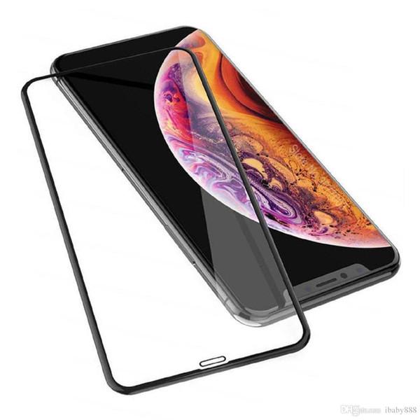 Para iPhone 11 Pro Max XS XR 8 Plus pantalla de cristal templado 3D 9H cubierta completa pantalla a prueba de explosiones película del protector