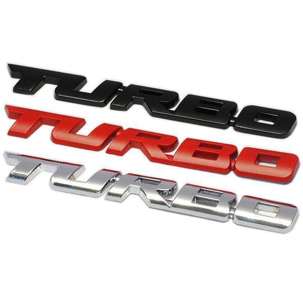 1pc 3D Metal Car sticker Turbo badge Accessories For Mitsubishi Asx Lancer 10 9 Outlander 2013 Pajero Sport L200 Expo Eclipse Colt