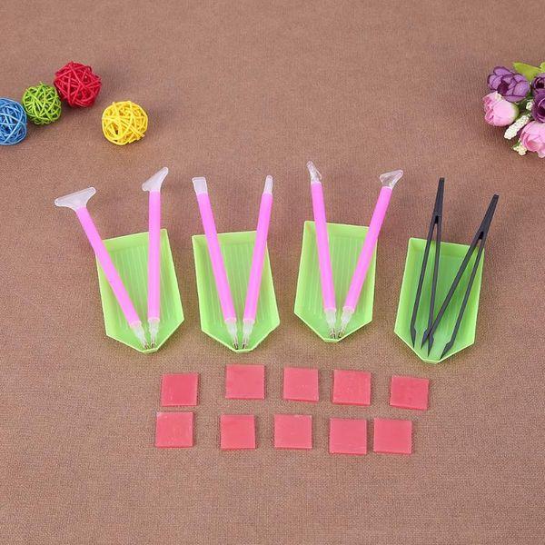 DIY Diamond Painting Accessories 5D Cross Stitch Embroidery Pen Diamond Painting Tools Set Mosaic Glue Pen Kit Tweezers