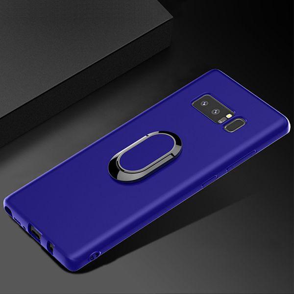 Creative 2 En 1 TPU Couverture De Téléphone Magnétique Anneau Titulaire Support pour Samsung S10 Plus Note 9 DHL