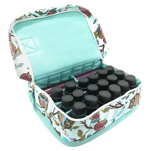 Voyage chaud portant organisateur titulaire maquillage sac cosmétique bouteille cas protéger pour 10ML rouleaux huiles essentielles bouteille sac cosmétique