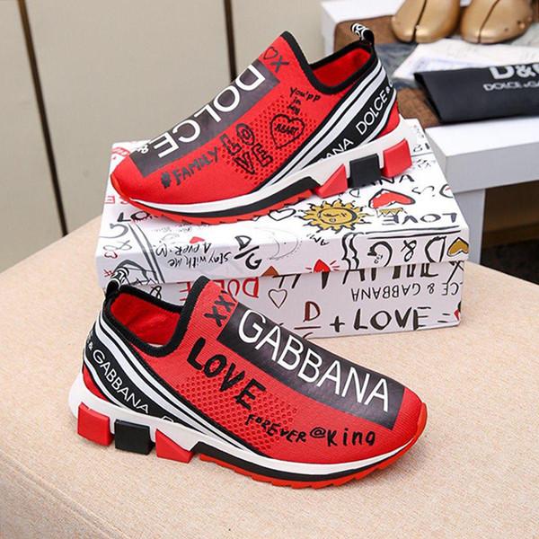 Stretch Mesh Sorrento Turnschuhe mit Logo Herrenschuhe Luxus Sports Bequeme Fußbekleidungen Low Top Männer Beleg-auf Turnschuh Verkauf Tropfen-Schiff