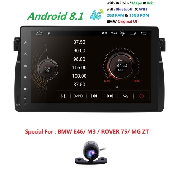 2019 In Stock Car DVD Player for BMW E46 Navigation Android8.1 BT Wifi 4G GPS Bluetooth Radio RDS USB SD TPMS SWC Map DVR CAM
