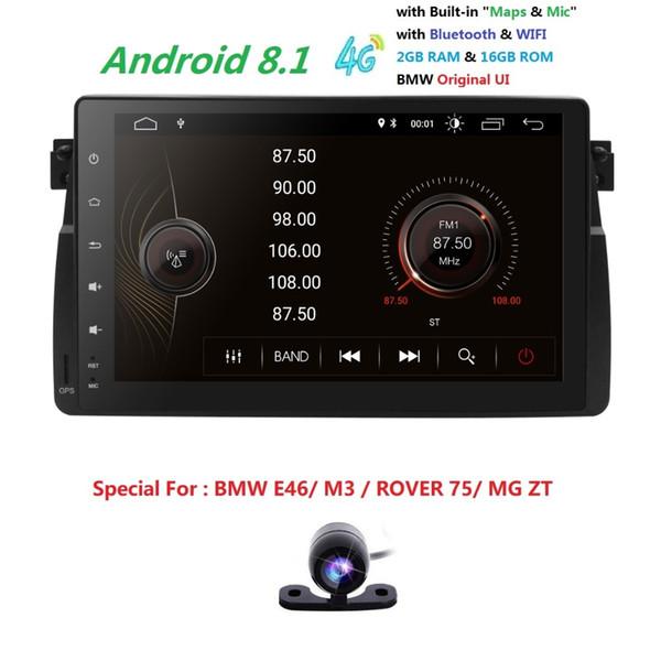 2019 In Stock Lettore DVD per auto per BMW E46 Navigazione Android8.1 BT Wifi 4G GPS Bluetooth Radio RDS USB SD TPMS SWC Mappa DVR CAM