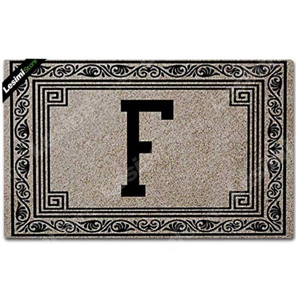 Festa de casamento Presente Bonito Doormat Casais Nome de Família Impressão Inicial Letras Noiva e Noivo Bem-vindo Porta Mats Room Decor Pad