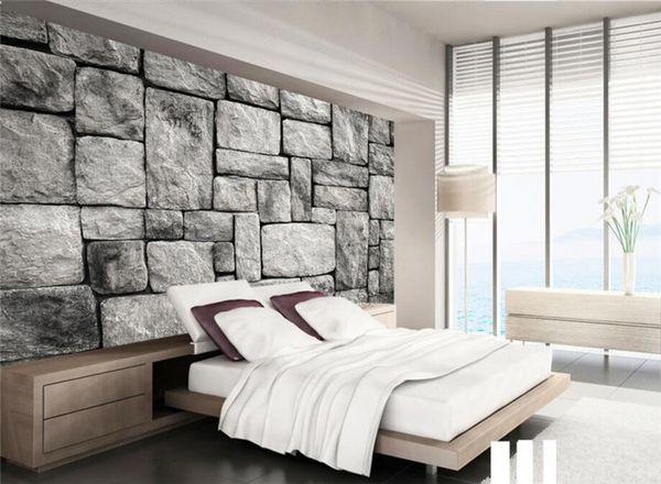 Custom Wallpaper Living Room Bedroom Background 3d Wallpaper Gray European Style Stone Brick Wall Background Wallpaper Hq Hd Wallpaper Hq Hd