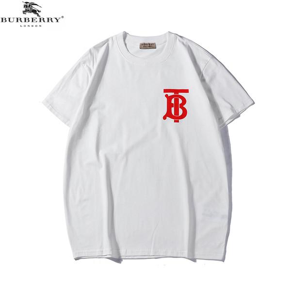 19SS Bur Designer T-Shirt Herren T-Shirt Sport Tide Kleidung T-Shirt Hip Hop Frauen Kleidung T-Shirt