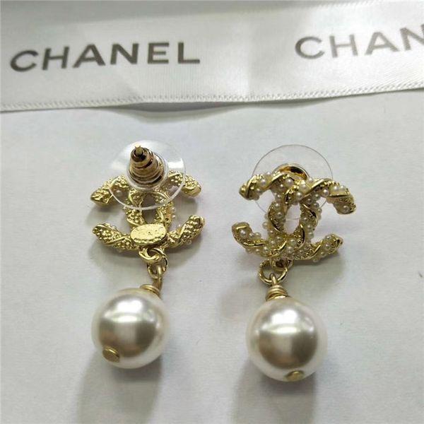 Top Qualität Designer Marke vorzügliche Diamant-Rundschreiben Bolzen-Ohrringe arbeiten Einfache 18K Vergoldete Silber Ohrstecker