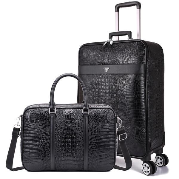 85cb3834ac4f5 2 parça bavul Set, İş 20 inç yatılı kutusu, Evrensel tekerlek arabası  çantası,