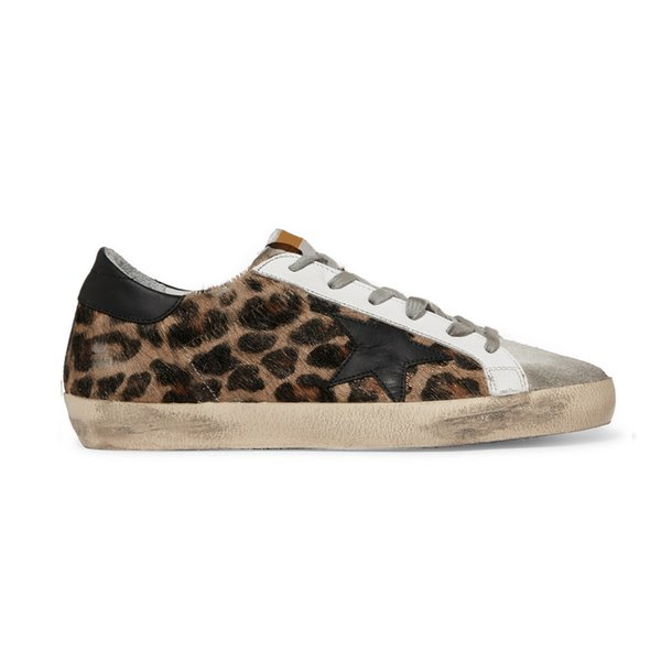 Sale Sneakers Geox Bsiqe7 Ner Shoes for Men Women Golden Goose Ggdb Old Dirty Style Sneakers Black White Genuine Leather Casual Shoe