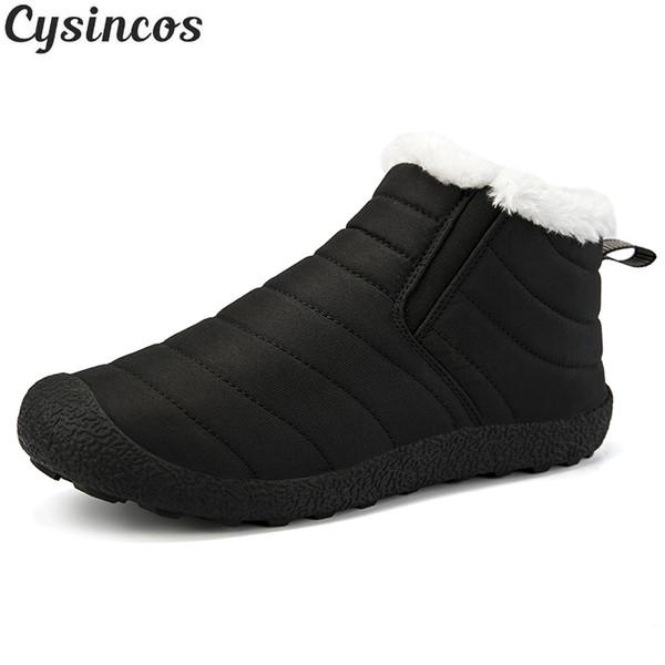 Yeni Moda Erkek Kış Ayakkabı Katı Renk Kar Boots Peluş İçinde Antiskid Alt Keep Sıcak Su geçirmez Kayak Boots Boyut 36-46