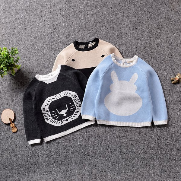 Boys Sweaters Baby Girls Autumn/Spring Wear Warm Bear Cartoon Sweaters New Children Pullovers Outerwear Baby Sweater 1-5 Years