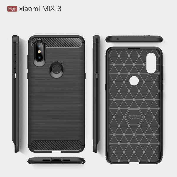 2018 New CellPhone Cases For Xiaomi Mix3 Luxury Carbon Fiber heavy duty case for Mi Max3 cover Free DHL shipping