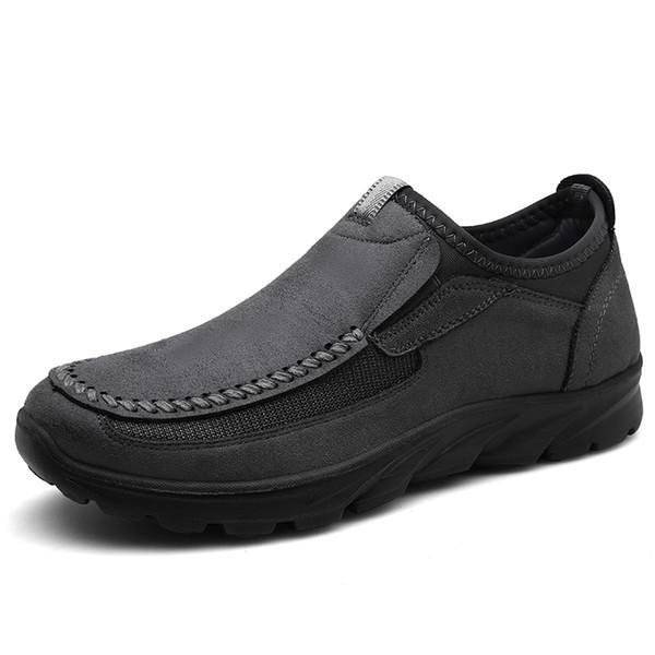 2019 Novos Homens Mocassins Moda de Luxo Ao Ar Livre Sapatos de Caminhada Masculinos Casuais Deslizamento em Brown Homem Preto Plana Sapatos de Condução Plus Size